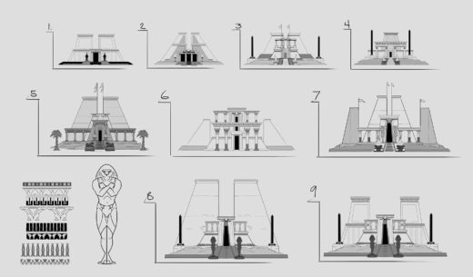 Ancient Egyptian Building Concept Art
